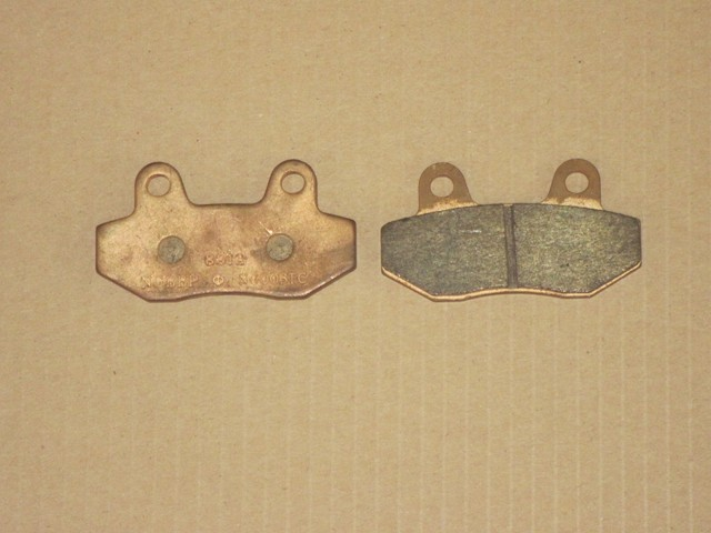 Brake pads (2 pcs., front, new version) copper